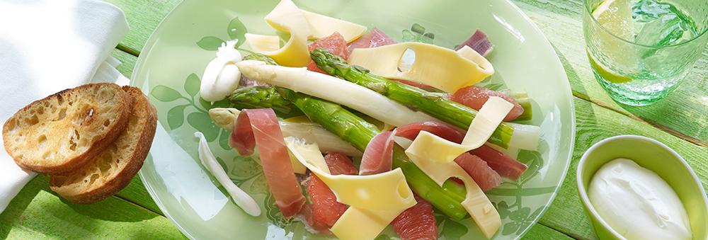 salade-van-kaas-met-asperges-en-ham